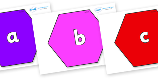 Phase 2 Phonemes on Hexagons - Phonemes, phoneme, Phase 2, Phase two, Foundation, Literacy, Letters and Sounds, DfES, display