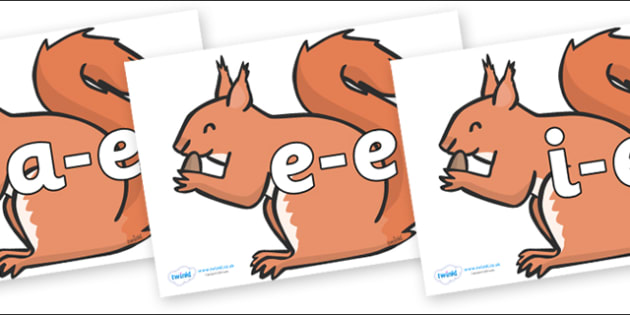Modifying E Letters on Red Squirrels - Modifying E, letters, modify, Phase 5, Phase five, alternative spellings for phonemes, DfES letters and Sounds