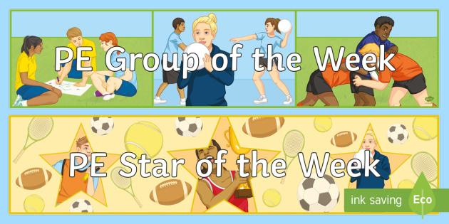 PE Star of the Week Banner - sports, star, champion, winner, behaviour