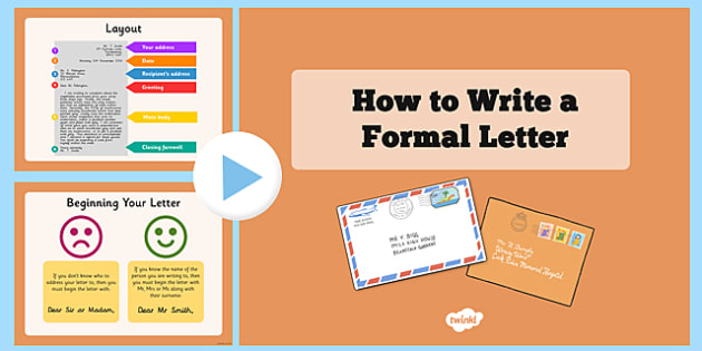 Formal Letter Layout  Formal Letter Formal Writing Ks How To