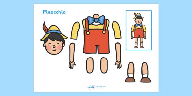 Split Pin (Pinocchio Characters) - pinocchio, story, pinocchio characters, split pin, split, pin, moving, puppet, character