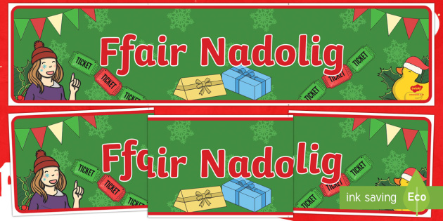 Ffair Nadolig Baner Arddangosfa -nadolig, ndolig, christmas, banner, ffair nadolig, christmas fair