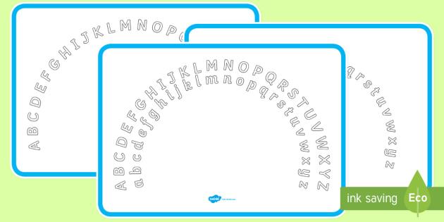 Plain Alphabet Arc Upper and Lower Case - alphabet, arc, upper