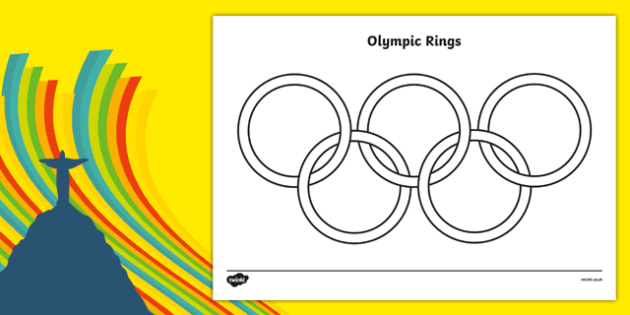 - FREE! - The Olympic Rings Coloring Sheet (teacher Made)