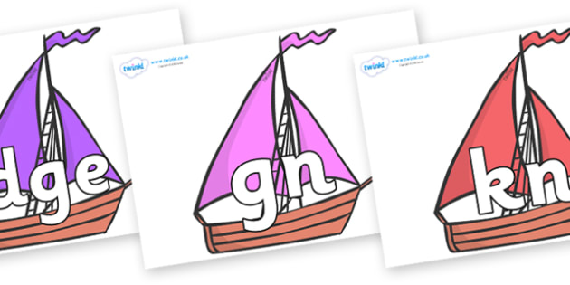 Silent Letters on Sailing Boats to Support Teaching on Where the Wild Things Are - Silent Letters, silent letter, letter blend, consonant, consonants, digraph, trigraph, A-Z letters, literacy, alphabet, letters, alternative sounds