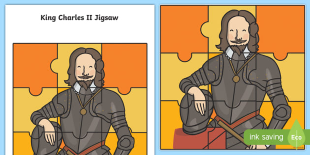 The Great Fire of London King Charles II Jigsaw Activity