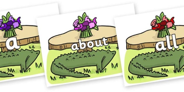 100 High Frequency Words on Trick Four to Support Teaching on The Enormous Crocodile - High frequency words, hfw, DfES Letters and Sounds, Letters and Sounds, display words
