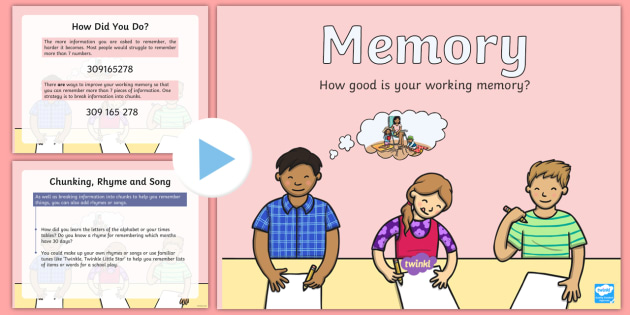What Is Working Memory >> Working Memory Powerpoint Asn Short Term Memory Memory Test Memory