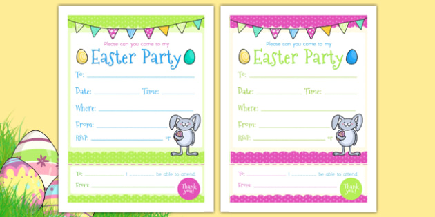 easter party invitations easter religion easter party