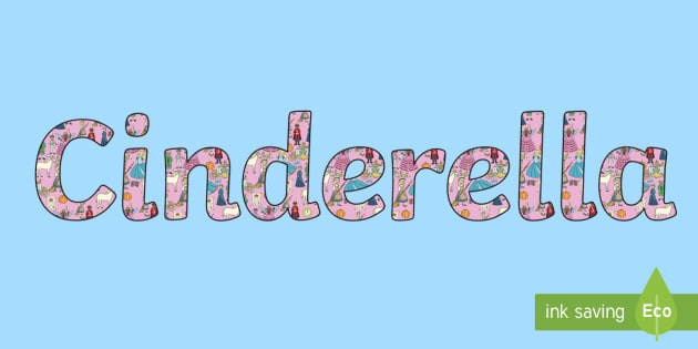 Cinderella Display Lettering - cinderella, display, lettering