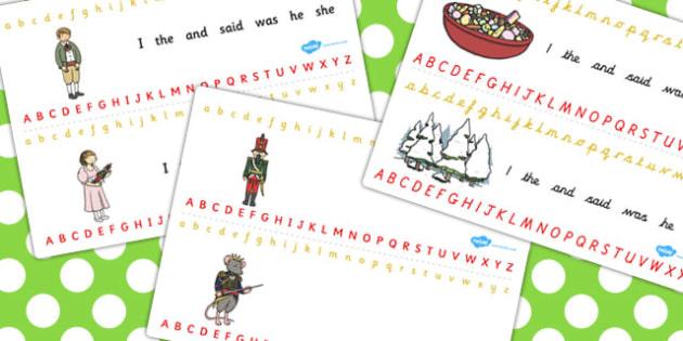 The Nutcracker Alphabet Strips - nutcracker, alphabet, strips
