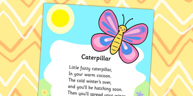 Caterpillar Nursery Rhyme Display Poster - display poster, display, caterpillar poster, caterpillar nursery rhyme, posters, A4 posters, poster, classroom display posters