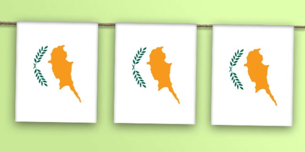 Cyprus Flag Bunting - world, display, country, countries, flags, map