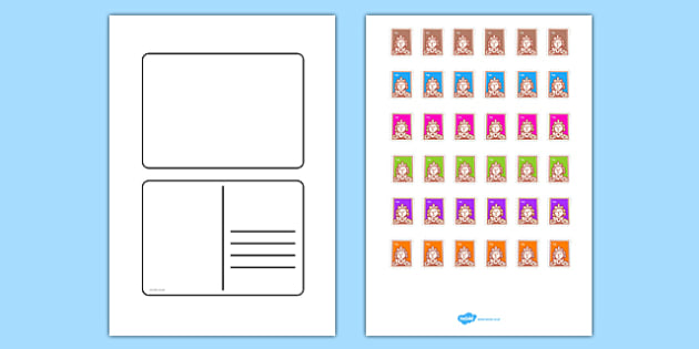 Postcard Templates - Postcard Writing Template