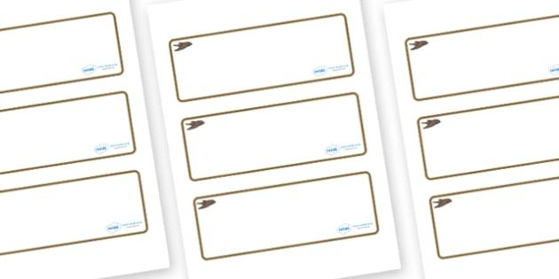 Swift Themed Editable Drawer-Peg-Name Labels (Blank) - Themed Classroom Label Templates, Resource Labels, Name Labels, Editable Labels, Drawer Labels, Coat Peg Labels, Peg Label, KS1 Labels, Foundation Labels, Foundation Stage Labels, Teaching Labels