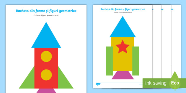 Racheta Din Forme Geometrice Fișă De Activitate