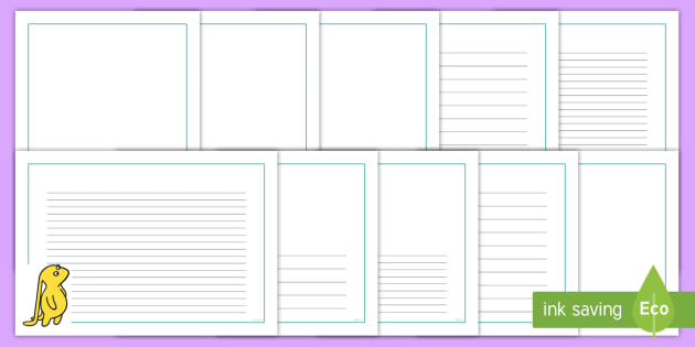 Page Borders to Support Teaching on Beegu - Beegu, Earth People, little, Alexis Deacon, book, page border, border, writing template, writing aid, writing, story, creature