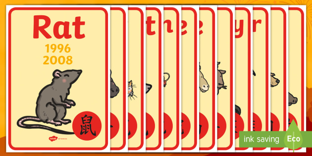 Chinese New Year Birthday Display Posters - Display Posters, Chinese new year, A4, display, posters, China, lantern, dragon, chopsticks, noodles, year of the rabbit, ox, snake, fortune cookie, pig