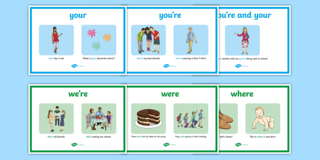 Your, You're, Were, Where, Wear Display Posters - your, you're, were, where, wear, display poster, display, poster