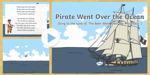 Pirate Went Over the Ocean Rhyme PowerPoint