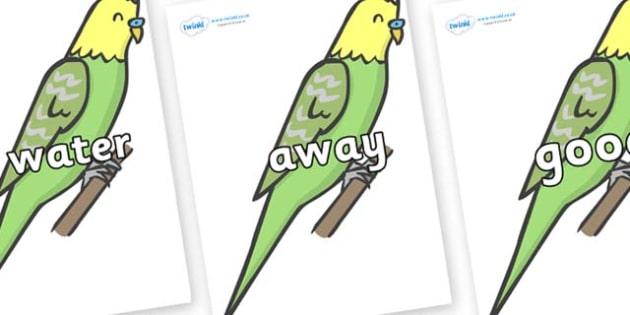 Next 200 Common Words on Budgies - Next 200 Common Words on  - DfES Letters and Sounds, Letters and Sounds, Letters and sounds words, Common words, 200 common words