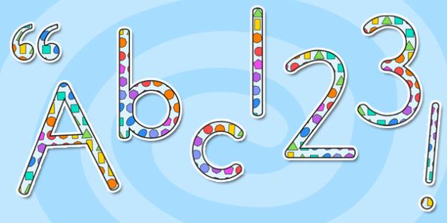 2D Shape Themed Display Lettering - australia, 2d shape, display lettering