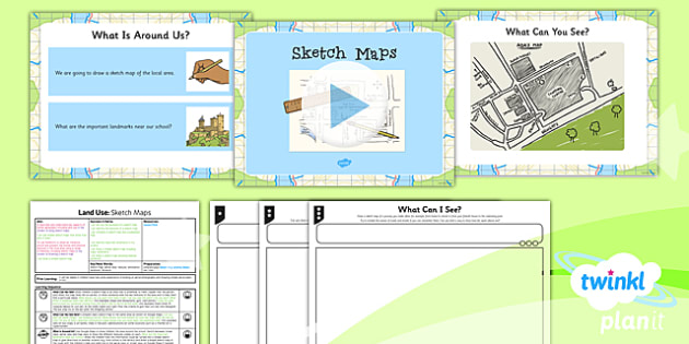 Geography:  Land Use: Sketch Maps Year 3 Lesson Pack 1