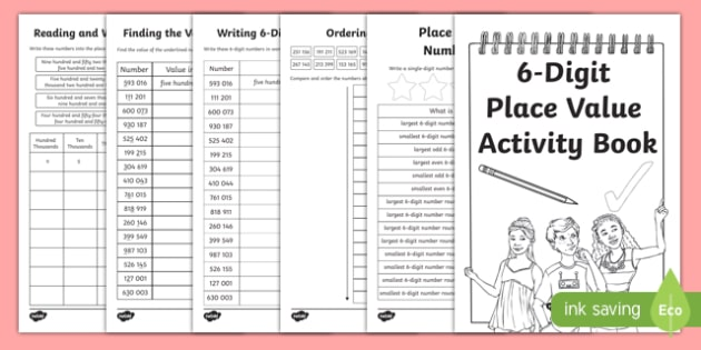 Back to School Place Value Revision of 6-Digit Numbers Activity Booklet-Scottish