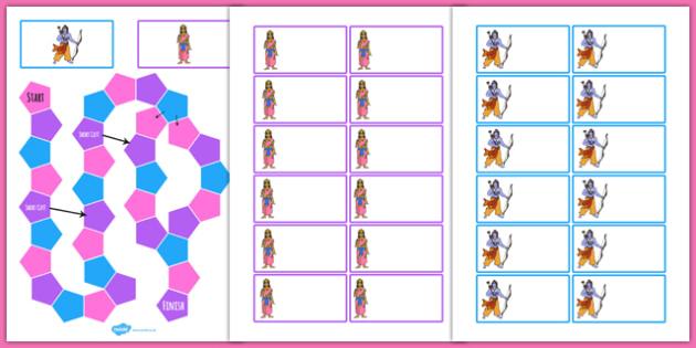 Diwali Themed Editable Board Game - hinduism, hindu, games, RE