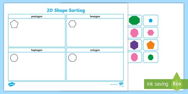 2d shape sorting worksheet worksheet 2d shapes shapes 2d d 2d. Black Bedroom Furniture Sets. Home Design Ideas