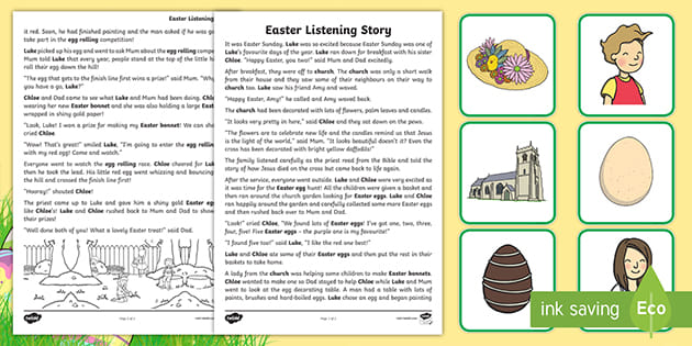 Easter Listening Story Activity