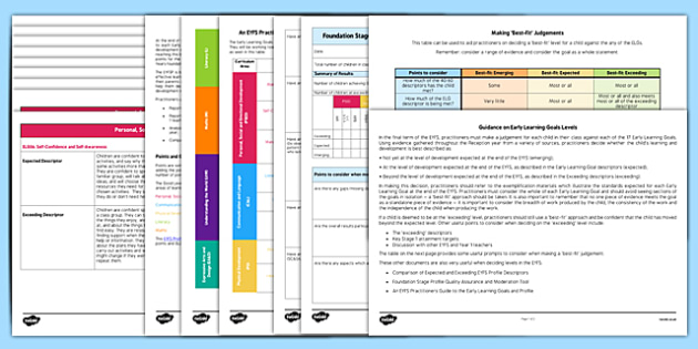 EYFS Early Learning Goals Assessment Guidance