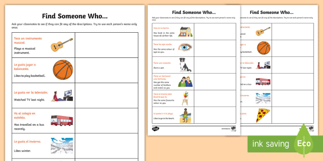 English worksheets: FIND SOMEONE WHO-ABILITIES