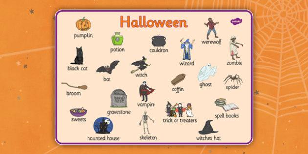 word halloween