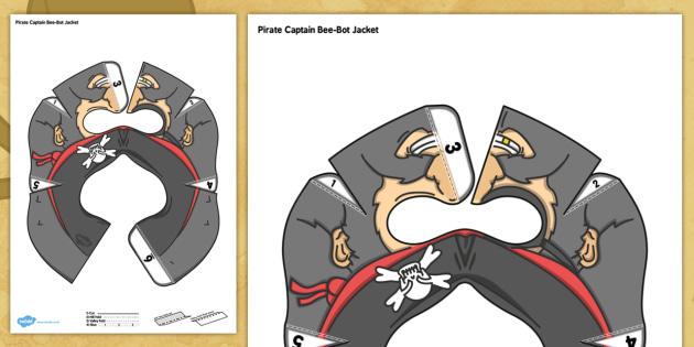 Pirate Captain Bee Bot Jacket - pirate captain, bee bot, bee-bot, jacket