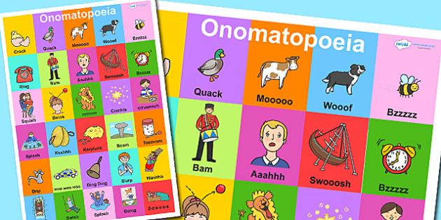 Onomatopoeia Display Poster - onomatopoeia, poster, display