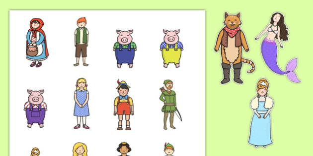 Traditional Tales Character Cut Outs - traditional, tales, character