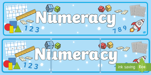 Numeracy Display Banner - Numeracy, display banner, maths