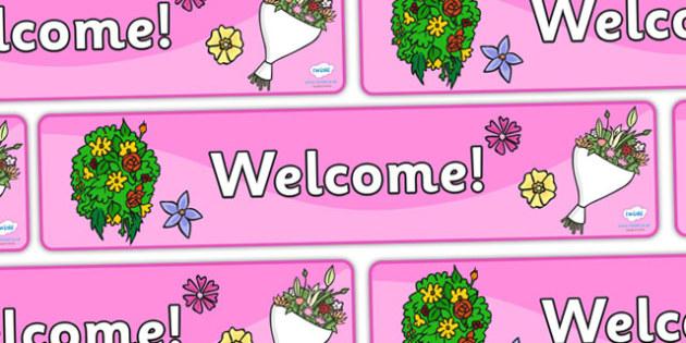 Garden Centre Welcome Display Banner (2) - Banner, display, garden centre, welcome, plants, plant, topic