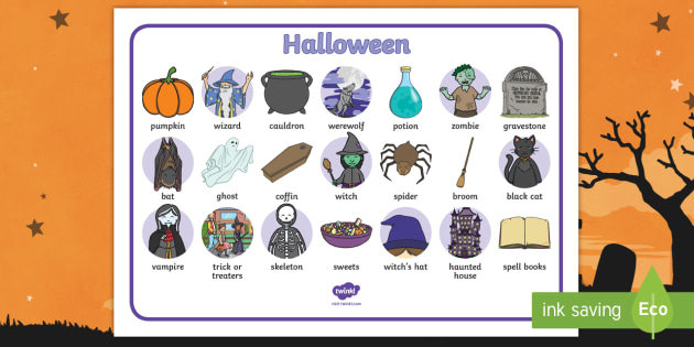 Halloween Word Mat Primary Resources Teacher Made