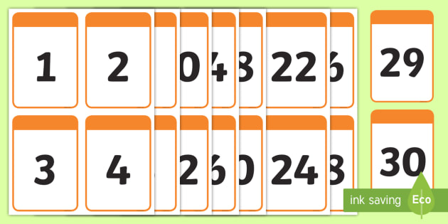 photo regarding Free Printable Numbers 1-30 referred to as No cost! - Quantity Digit Playing cards 0-30 - math, numeracy, digit card