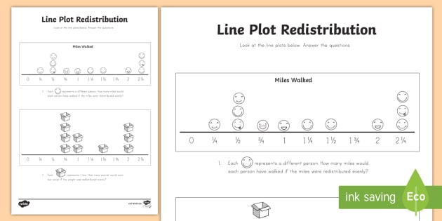 Line Plot Redistribution 3 Worksheet Activity Sheet Line