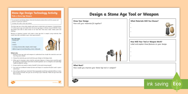 t2-h-5592-ks2-stone-age-weapon-activity-english_ver_3 Teacher Newsletter Template on owl theme, for first grade, free preschool,