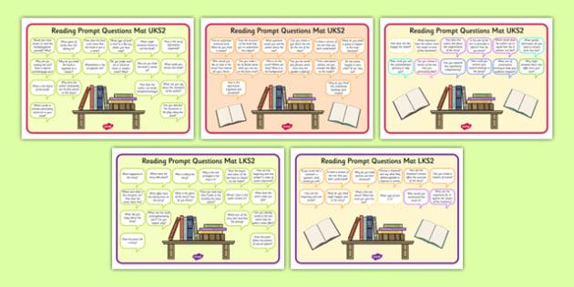 2014 Curriculum Reading Prompt Questions Mats KS2 - mats, prompt