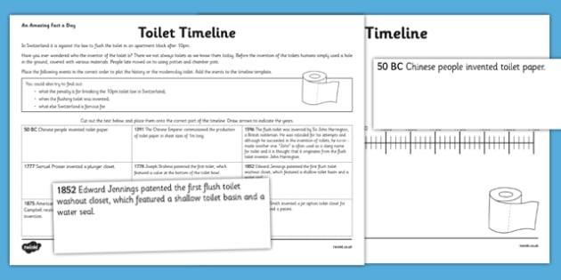 toilet timeline worksheet activity sheet challenge