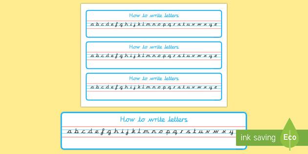 Cursive Alphabet Strip - - cursive, alphabet, strip, handwriting, writing area, eyfs, ks1,