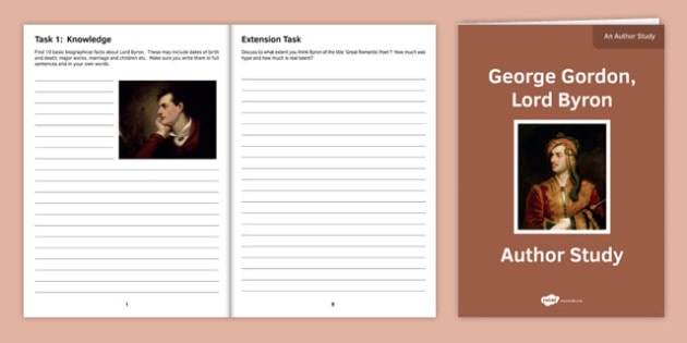 Author Study Lord Byron - Poetry, Anthology, AQA, English Literature, Lord Byron, Love Poetry, Betrayal, poems