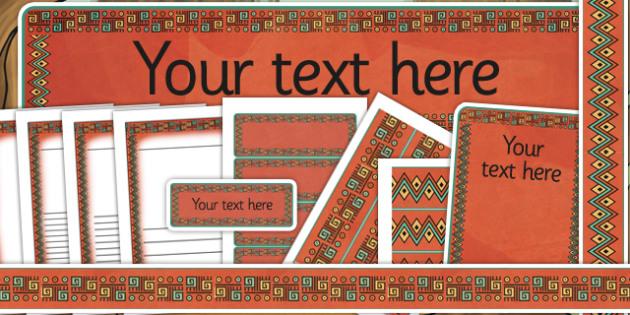 Mayan Civilization Themed Editable Display Pack - mayans display