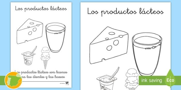 NEW * Poster para colorear: Los productos lácteos
