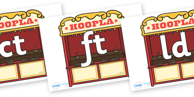 Final Letter Blends on Hoopla Stands - Final Letters, final letter, letter blend, letter blends, consonant, consonants, digraph, trigraph, literacy, alphabet, letters, foundation stage literacy